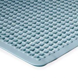 Modrá koupelnová protiskluzová vanová sprchová rohož - 75 x 35 cm