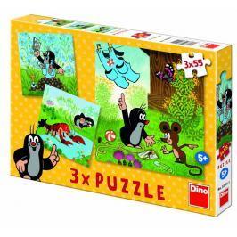Dino Krteček a kalhotky puzzle, 3x 55 dílků