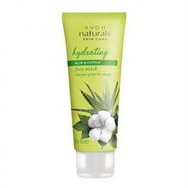 Avon Hydratační pleťová maska s bavlnou a aloe vera Naturals (Face Mask Hydration With Cotton And Aloe Ve