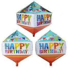 Toro Balónek Happy Birthday Diamant 39,5 x 73,6 cm