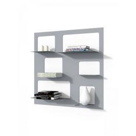 Mørtens Furniture Nástěnný regál / knihovna Libri 3, 90 cm, šedá