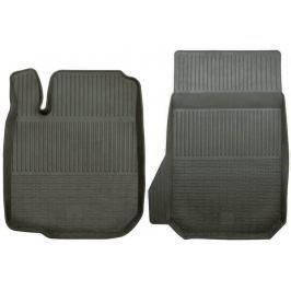 POLGUM Gumové koberce, přední, 2 ks, černé, pro vozy Citroen C1, C2 a C3, Lexus RX, Mitsubishi Pajero, Peugeot 107 a Toyota Aygo