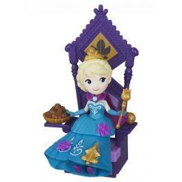 Disney Frozen malá panenka Elsa s trůnem