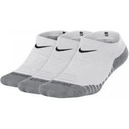 Nike Dry Cushion No-Show Sock 3 Pair White Wolf Grey Black S