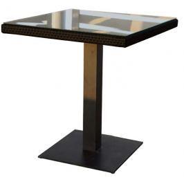 Dimenza Designový stůl BARCELONA 70x70 cm - černý
