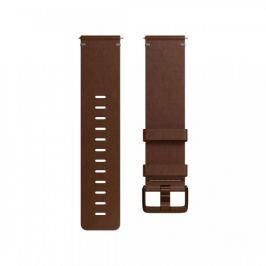 Fitbit Versa - kožený řemínek Cognac, L