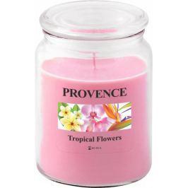 Toro Svíčka ve skle s víčkem - tropické květy 510 g