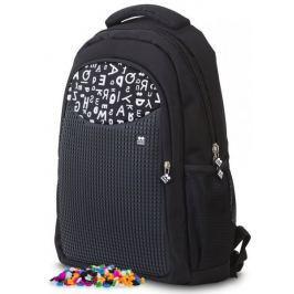 Pixie Crew Studentský batoh černá písmena