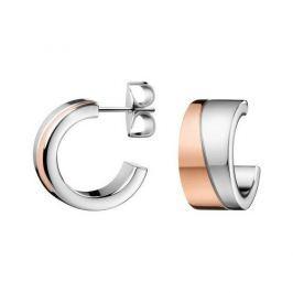 Calvin Klein Bicolor náušnice kroužky Hook KJ06PE200100