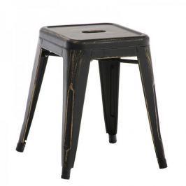 BHM Germany Stolička / židle bez opěradla Arman, antik černá