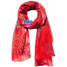 Desigual dámský červený šátek Mandala
