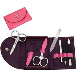 DuKaS Růžová semišová manikúra Solingen s kamínky Swarovski PL21601