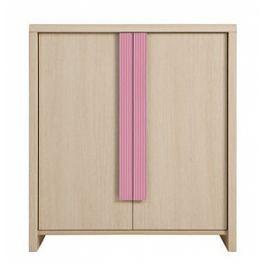 CAPS, skříňka KOM2D, dub sv. belluno/růžová