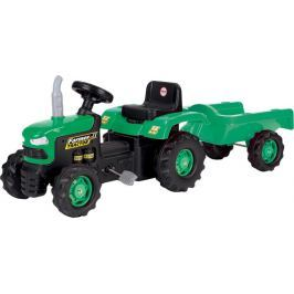 DOLU Dětský traktor šlapací s vlečkou - zelený