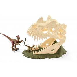 Schleich Velká lebka s Velociraptorem a ještěrem 42348
