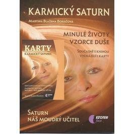 Boháčová Martina Blažena: Karmický Saturn (kniha + karty 27 ks)