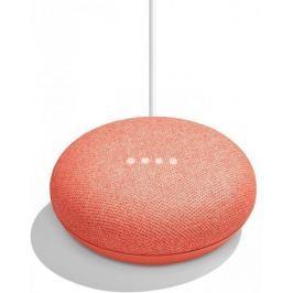 Google Home Mini - reproduktor s umělou inteligencí, červený