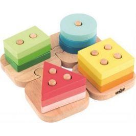 Woody Skládací tvary na puzzle podložce