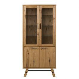 Design Scandinavia Vitrina / skřín s prosklenými dveřmi Kiruna, 187 cm