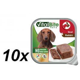 VitalBite Vanička masové kousky s telecím a králičím 10 x 150 g