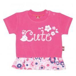 2be3 dívčí tričko Cute 68 růžová