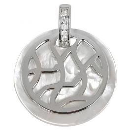 Silver Cat Stříbrný přívěsek s perletí a krystaly SC155 stříbro 925/1000