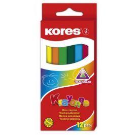 Pastelky voskové Kores 12 ks trojhranné pr. 10 mm