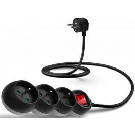 Connect IT Prodlužovací kabel (3 zásuvky; 1,5 m), černá