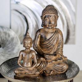 Papillon Soška Meditující Buddha, 42 cm, antik hnědá
