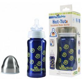 Pacific Baby Hot-Tot termoska 200 ml, Modrá - spirálky Kojenecké láhve