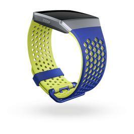 Fitbit Ionic - sportovní řemínek Modrožlutý - velikost L