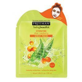 Freeman Hydratační látková maska Aloe vera a rakytník (Hydrating Sheet Mask) 25 ml