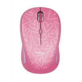 Trust Yvi FX Wireless Mouse - růžová (22336)