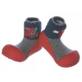 Attipas Chlapecké botičky Dinosaur Red 19 červeno-šedá