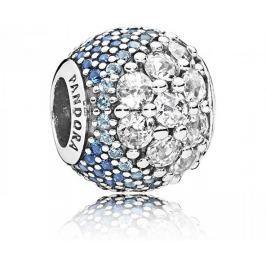 Pandora Zamilovaný korálek s modrými kamínky 797032NABMX stříbro 925/1000