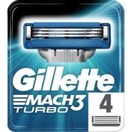 Gillette Mach3 Turbo holicí hlavice pro muže 4Ks