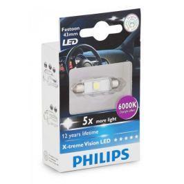 Philips X-tremeVision LED C5W 43 mm, denní světlo, 6000 K, 1 ks