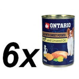 Ontario Konzerva Mini Calf, Sweetpotato, Dandelion and linseed oil 6 x 400g