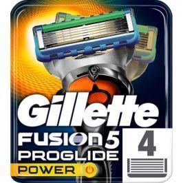 Gillette Fusion5 ProGlide Power holicí hlavice pro muže 4ks