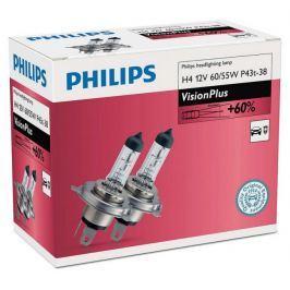Philips VisionPlus H4, 12 V, 60/55 W, 2 ks
