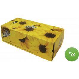 LINTEO Satin Papírové kapesníky v krabičce 5 x 150 ks