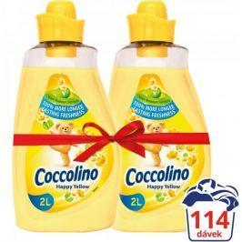 Coccolino Happy Yellow aviváž 2x 2l (114 praní)