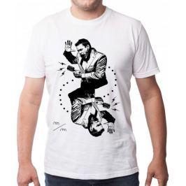 KlokArt pánské tričko Gildan 4100 bílá M