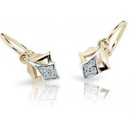 Cutie Jewellery Dětské náušnice C2220-10-10-X-1 zlato bílé 585/1000