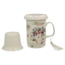 Marex Trade Hrnek na čaj s víčkem a čajítkem EDEN 320ml v dárkovém balení