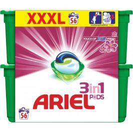 Ariel Touch of Lenor 3v1 gelové kapsle 56 ks