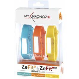 MyKronoz 3x pásky pro ZeFit3 a ZeFit3 HR - modrá, oranžová, žlutá