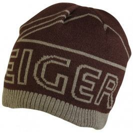 Eiger Čepice Logo Knitted Hat With Fleece Lining Brown