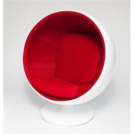 Mørtens Furniture Otočné křeslo Sphere, červená