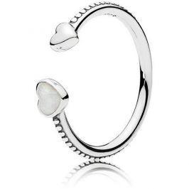 Pandora Otevřený srdíčkový prsten 191045EN23 (Obvod 52 mm) stříbro 925/1000